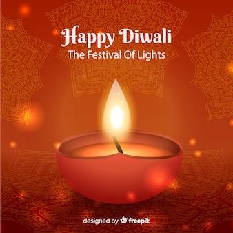 Beautiful realistic diwali background
