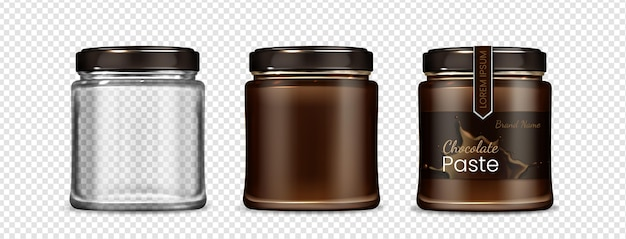 Beautiful realistic jar collection