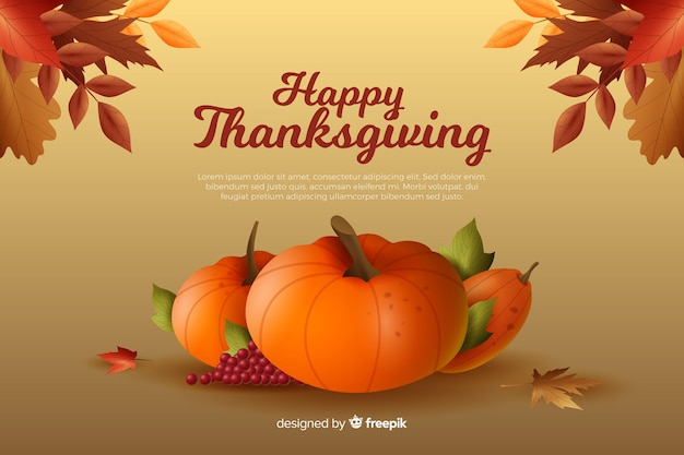 Beautiful realistic thanksgiving background
