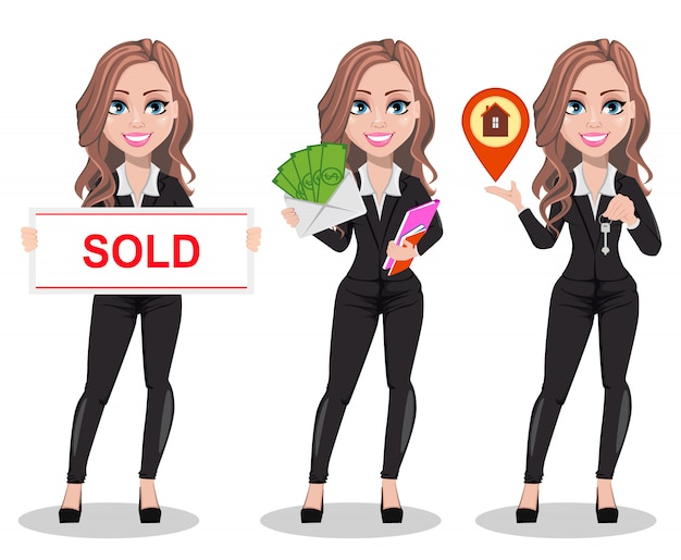 Beautiful realtor woman. a real estate agent