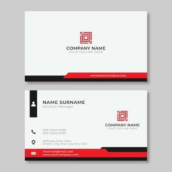 아름다운 빨간색과 흰색 명함 디자인