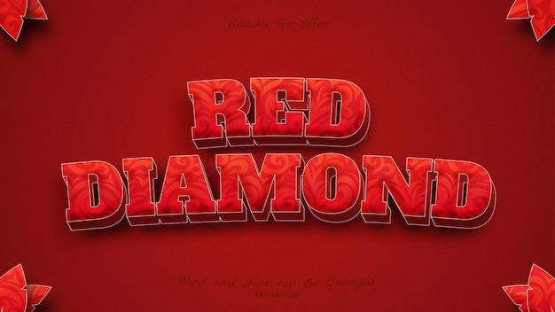 Beautiful red diamon text effect