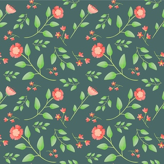 Beautiful red flower seamless pattern