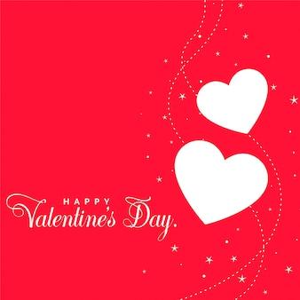 美しい赤いバレンタインの日心の背景