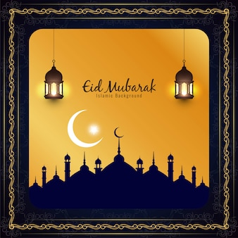 Beautiful religious eid mubarak islamic background