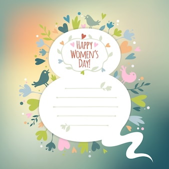 여성의 날 아름다운 레트로 카드