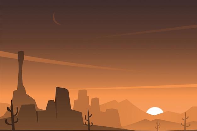 Beautiful rocky desert scene