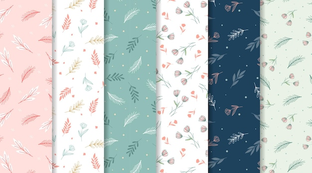 Beautiful and romantic minimalist floral seamless pattern