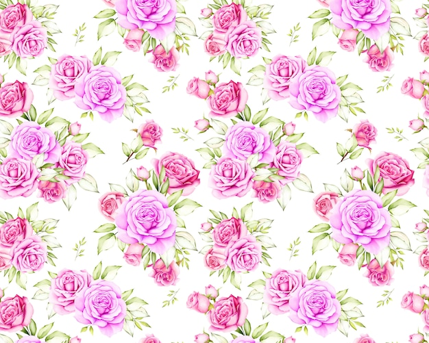 Beautiful rose flower seamless pattern