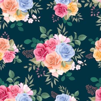 Красивый цветок розы бесшовный фон