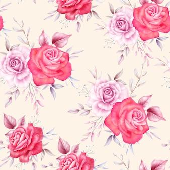美しいバラの花のシームレスなパターン