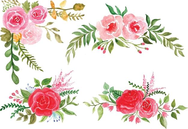 Красивая роза цветок watercolor