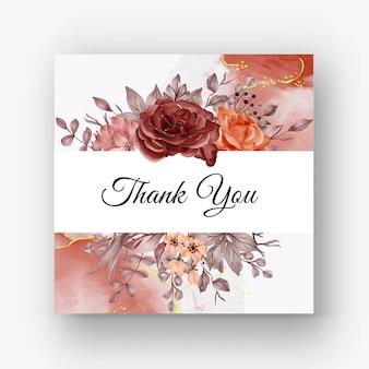 Красивая роза рамка осень осень фон для свадебного приглашения