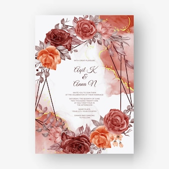 Beautiful rose frame background for wedding invitation with beige soft pastel colorbeautiful rose autumn fall frame background for wedding invitation