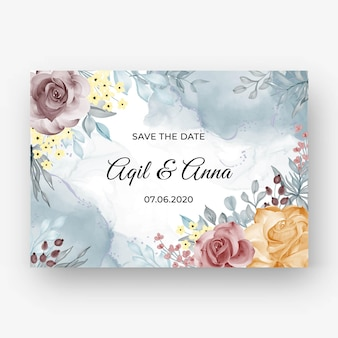 Beautiful rose frame background for wedding invitation with soft pastel colorbeautiful rose frame background for wedding invitation with soft pastel autumn