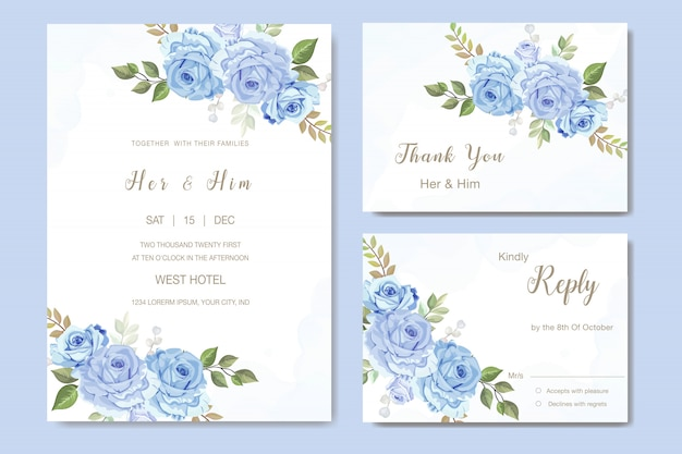 Beautiful rose vector for wedding invitation