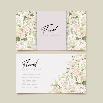 Beautiful roses business card template