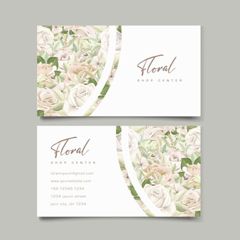 Шаблон визитной карточки красивые розы
