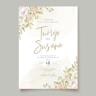 Beautiful roses invitation card template