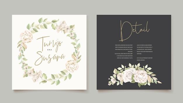 아름 다운 장미 초대 카드 서식 파일