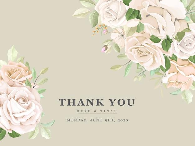 아름다운 장미 초대 카드 템플릿