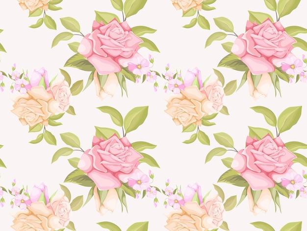 美しいバラのシームレスなパターンの花