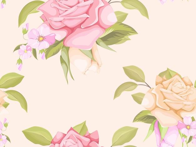 美しいバラのシームレスなパターンテンプレートデザイン