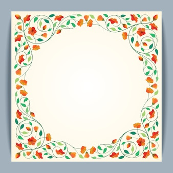 Beautiful round frame vector flower banner background