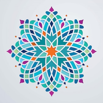 Beautiful round ornament colorful arabic background