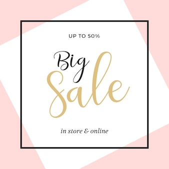Beautiful sale banner template design