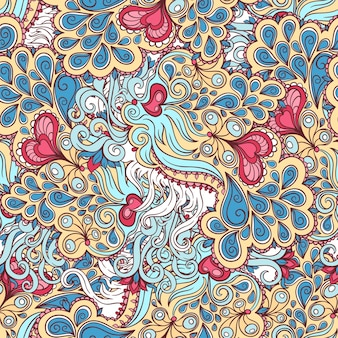 美しいシームレスな抽象的なピンクとブルーのパターン