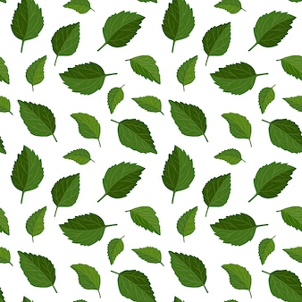 Beautiful seamless floral pattern background. green leaves backdrop.