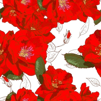 Beautiful seamless floral pattern