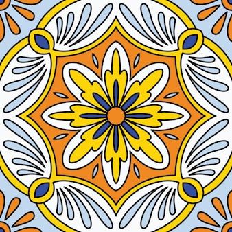 아름 다운 완벽 한 장식 타일 패턴
