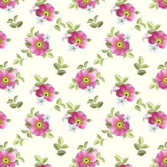 아름 다운 완벽 한 패턴 아름 다운 꽃과 잎