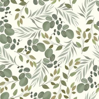 Beautiful seamless pattern beautiful   leaves