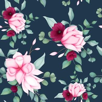 Красивый бесшовный цветочный узор