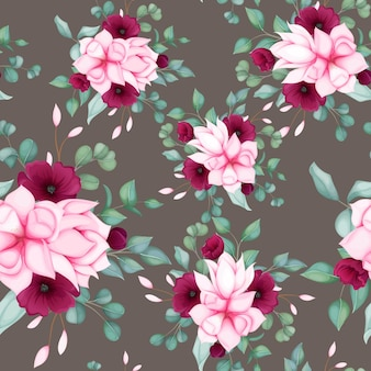 Beautiful seamless pattern floral design