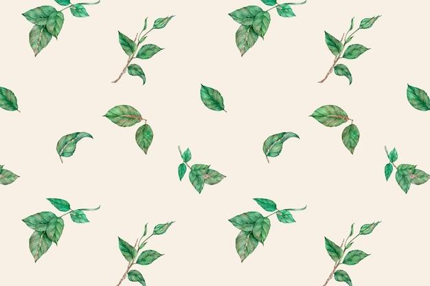 葉の美しいシームレスパターン