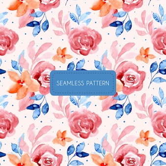 Beautiful seamless pattern watercolor floral