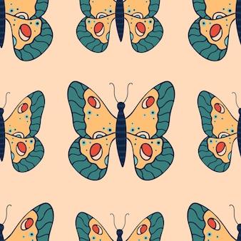 나비와 함께 아름 다운 완벽 한 패턴
