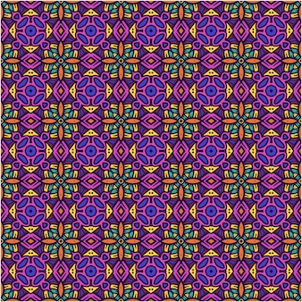 Beautiful seamless pattern with ethnic style