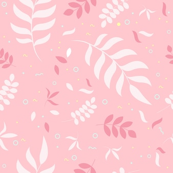 Beautiful seamless pattern with spring flowers. bright illustration