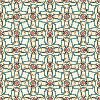 작은 꽃과 원 추상 패턴으로 아름 다운 완벽 한 복고풍 배경