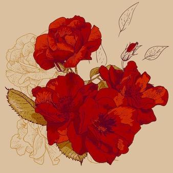 Beautiful seamless rose
