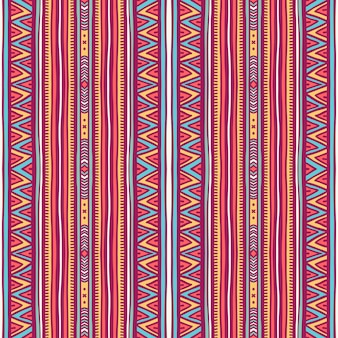 Beautiful seamless tribal pattern with vertical stripes and triangles