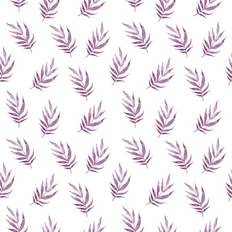 Beautiful seamless vector tropical pattern with palm leaves on white background