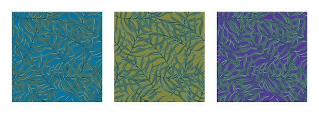 야자수 잎이 있는 아름다운 원활한 벡터 열대 패턴