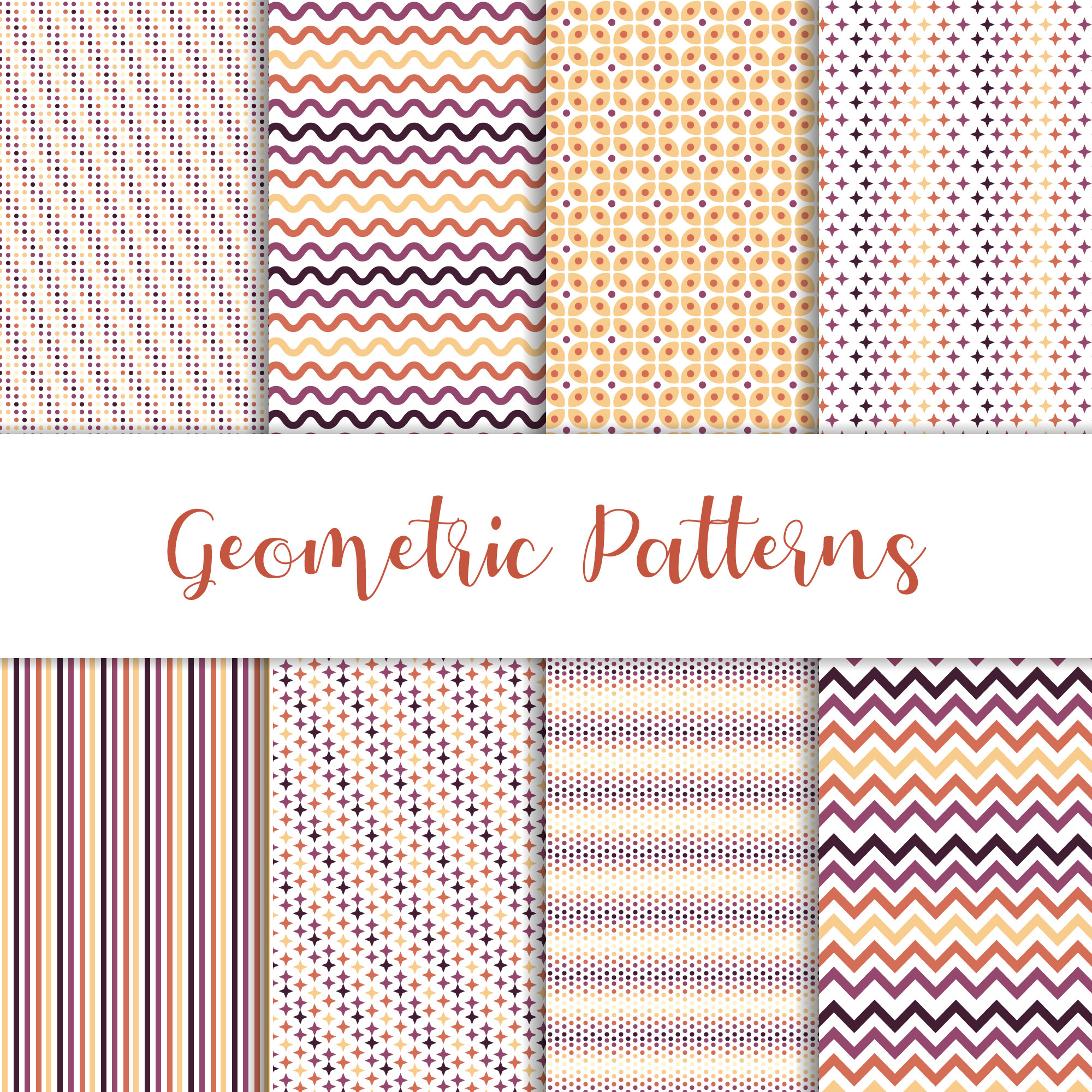 Beautiful set of geometric patterns