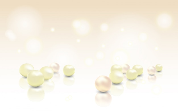 Beautiful shining jewellery background with rose pearls